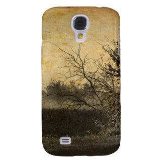 Land-Feldlandschaftrustikale Winter-Bäume Galaxy S4 Hülle