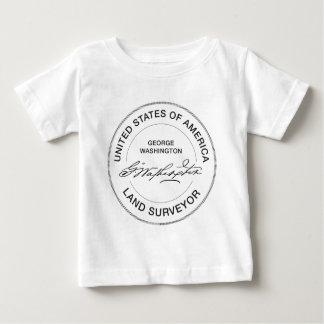 Land-Feldmesser-Siegel George Washington USA Baby T-shirt