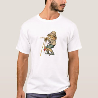Land-FeldmesserVintager Watercolor-wahres T-Shirt