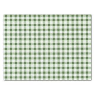 Land-grünes Karo-Seidenpapier Seidenpapier