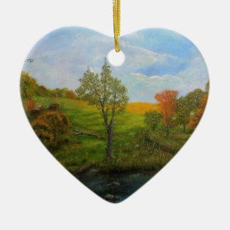 Land-Herbst Keramik Ornament