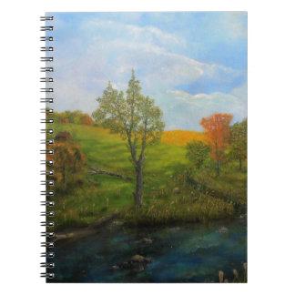 Land-Herbst Spiral Notizblock