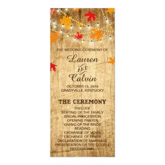 Land-Hochzeits-Zeremonie-Programm für Hochzeit im 10,2 X 23,5 Cm Einladungskarte