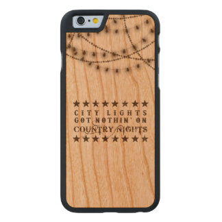 Land iPhone Fall auf Holz mit Lichtern Carved® iPhone 6 Hülle Kirsche
