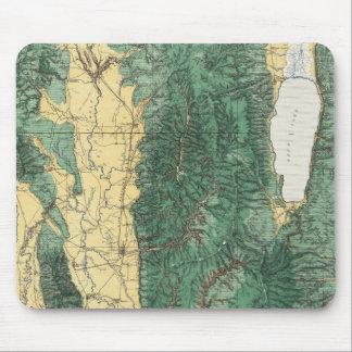 Land-Klassifikations-Karte von nordöstlichem Utah Mousepad