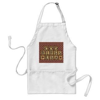 Land-Küchen-Sammlungs-Gott segnen USA-Schürze