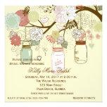 Land-lädt rustikales Maurer-Glas-Brautparty ein Personalisierte Einladungskarten