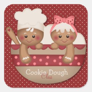 Land-Lebkuchen-Kochs-Aufkleber Quadratischer Aufkleber