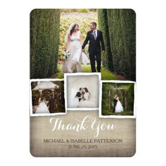 Land-Leinwand-Hochzeits-Foto danken Ihnen zu 12,7 X 17,8 Cm Einladungskarte