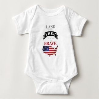 Land of the free because of the brave baby strampler