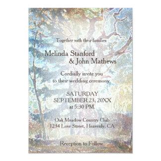 Land-Pastell-Baum der Hochzeits-Einladungs-| Karte