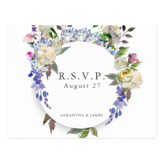 Land-rustikale Pfingstrosen-Hochzeit UAWG Postkarte