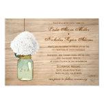 Land-rustikale Weckglashydrangea-Hochzeit Individuelle Ankündigungen