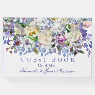 Land-rustikales Pfingstrosen-Hochzeits-Gast-Buch Gästebuch
