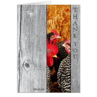 Land-Scheunen-hölzerne Hochzeit danken Ihnen Karte