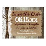 Land-Scheunen-hölzerne rustikale Save the Date