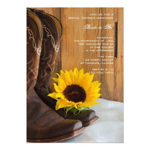 Land-Sonnenblume-Brautparty-Einladung