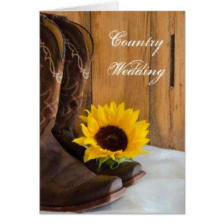 Land-Sonnenblume, die Save the Date Wedding ist Karte