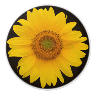 Land-Sonnenblume-runder Keramik-Zug Keramikknauf