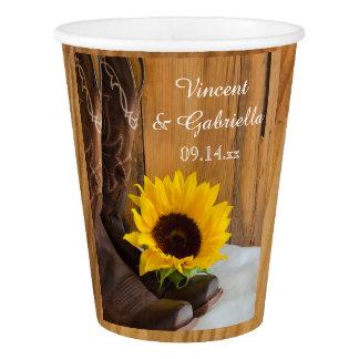 Land-Sonnenblume-Western-Hochzeit Pappbecher