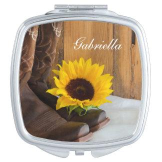 Land-Sonnenblume-Western-Hochzeit Schminkspiegel