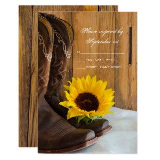 Land-Sonnenblume-Western-Hochzeit UAWG Antwort 8,9 X 12,7 Cm Einladungskarte
