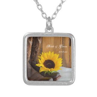 Land-Sonnenblume-Western-Hochzeit Versilberte Kette