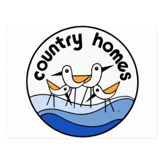Land steuert Logo automatisch an Postkarte