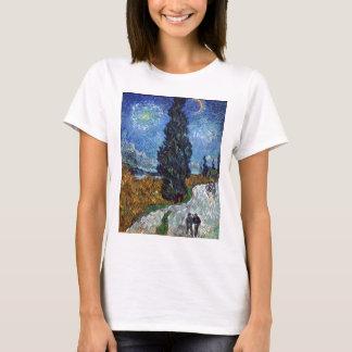 Land-Straße Vans Gogh- in Provence bis zum Nacht T-Shirt