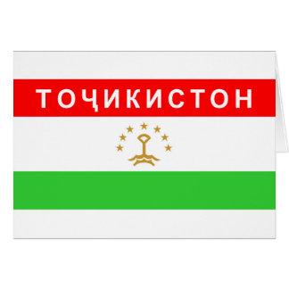 Land-Textname Tadschikistan-Flagge kyrillischer Karte