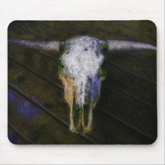 Land-Vieh-Viehzüchter-Hörner u. Kuh-Schädel Mauspads