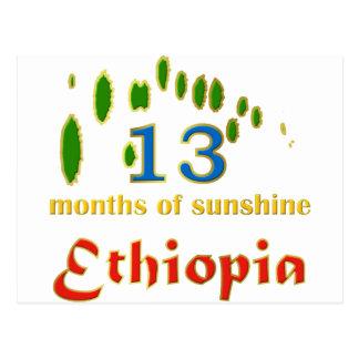 Land von 13 Monaten Sonnenschein Postkarte