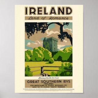 Land von Irland Poster