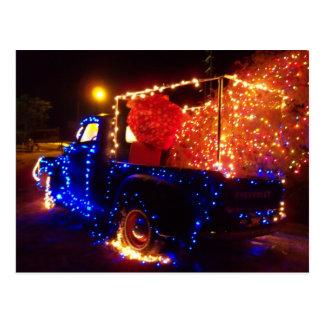 Land-WeihnachtsLieferwagen-LKW-Weihnachtspostkarte Postkarte