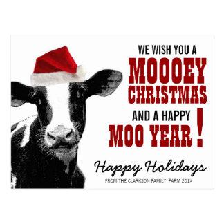 Land-Weihnachtssankt-Kuh Postkarte