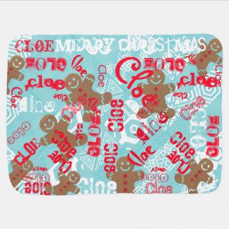 Land-Weihnachtswinter-Geschenk-Verpackung mit Kinderwagendecke