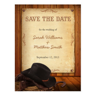 Land-Western, der Save the Date Postkarten Wedding