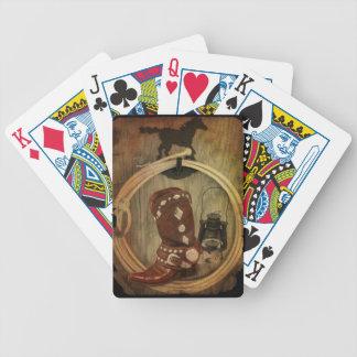 Land-Westernpferdecowboystiefel Lasso-Seil Bicycle Spielkarten