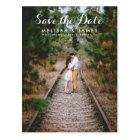 Land-wunderliches Hochzeits-Foto Save the Date Postkarte