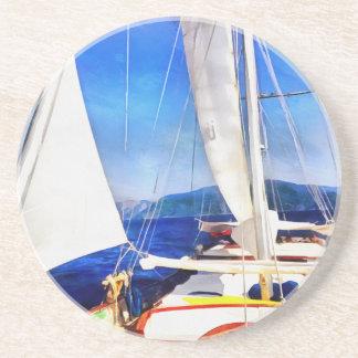 Land wurde hergestellt, damit Boote besuchen Sandstein Untersetzer