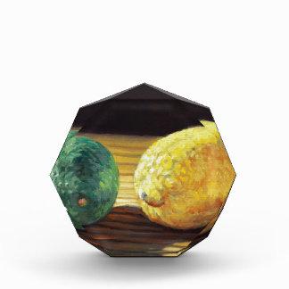 Land-Zitrone und Limones Acryl Auszeichnung