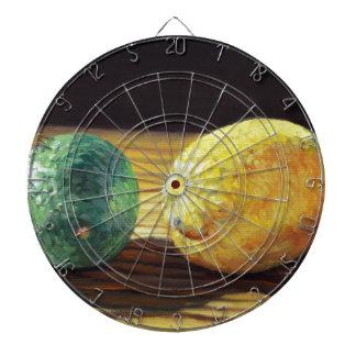 Land-Zitrone und Limones Dartscheibe