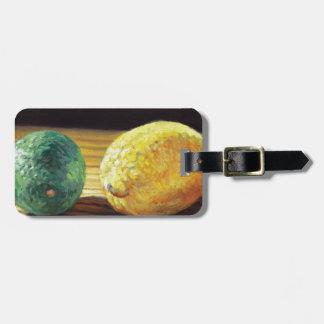 Land-Zitrone und Limones Kofferanhänger