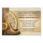 Landcowboyart-Geburtstagseinladungen 12,7 X 17,8 Cm Einladungskarte