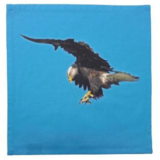 Landendes amerikanisches kahler Adler-Tier-Foto Serviette