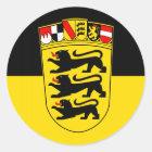 Landesflagge Baden-Württemberg Runder Aufkleber