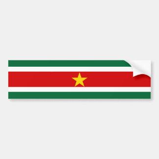 Landesflagge-Nationssymbol Surinams Surinam Autoaufkleber