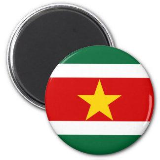 Landesflagge-Nationssymbol Surinams Surinam Runder Magnet 5,1 Cm