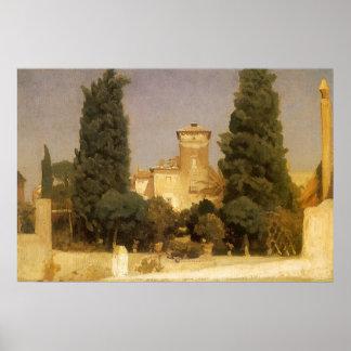 Landhaus Malta, Rom durch Lord Leighton Poster