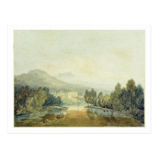 Landhaus Salviati auf dem Arno, c.1796-97 (w/c auf Postkarte